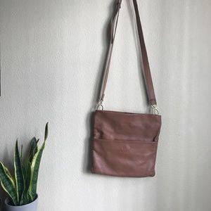SSEKO DESIGNS ❤️ Caramel Foldover Crossbody Bag